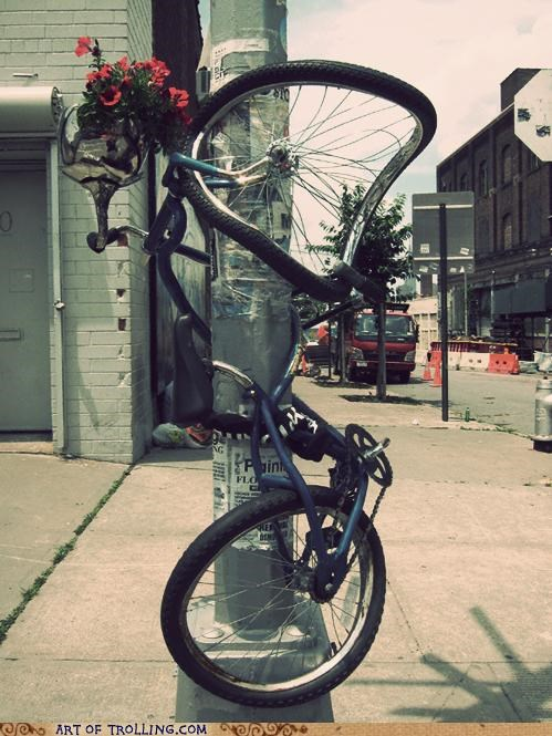 awesome,bike,IRL,telephone pole