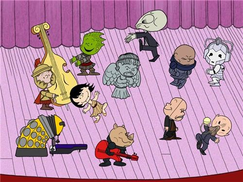 charlie brown,comics,doctor who,Fan Art,larry wentzel,mashups,peanuts,tv shows