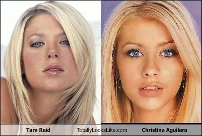 actresses,christina aguilera,singers,tara reid