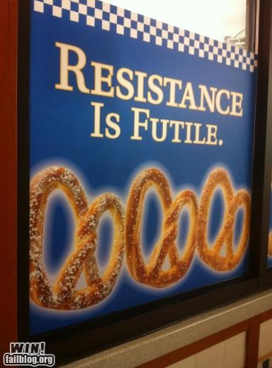 clever,food,pretzels,signs,slogans