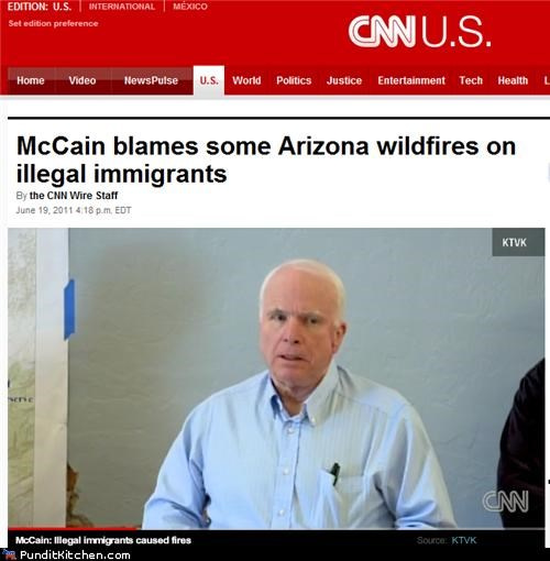arizona,illegal immigration,john mccain,political pictures