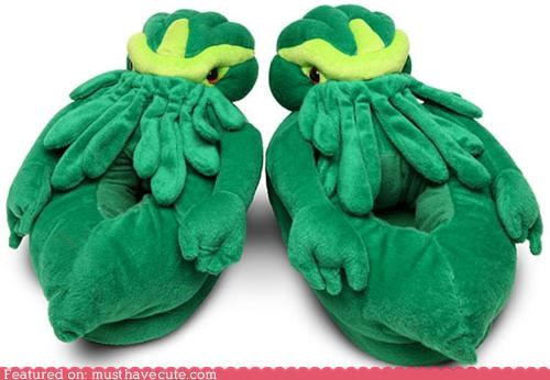 cthulhu,evil,green,slippers,underworld