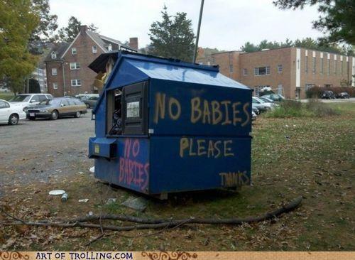 Babies,dumpster,IRL,trash