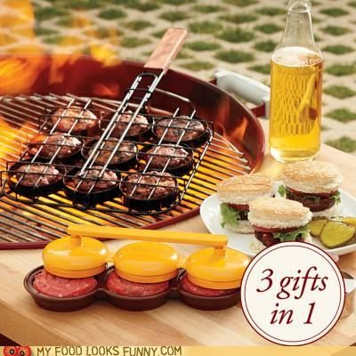 bbq burgers grill mold sliders - 4889294336