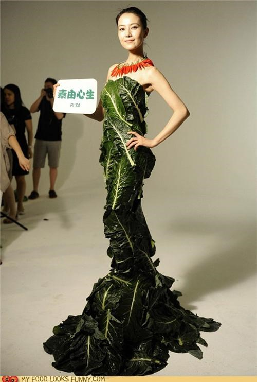 dress fashion lettuce peta vegetarian veggies - 4889296128