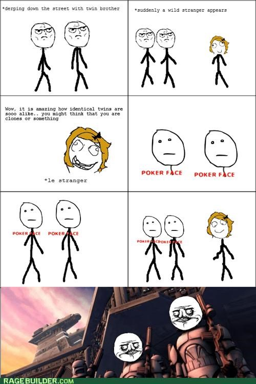brothers,clones,Rage Comics,star wars,twins