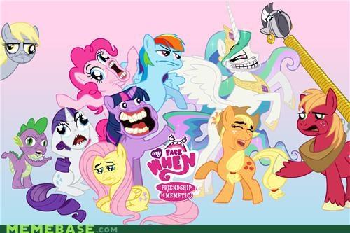 Bronies faces fight friendship Memes ponies TV - 4889317120
