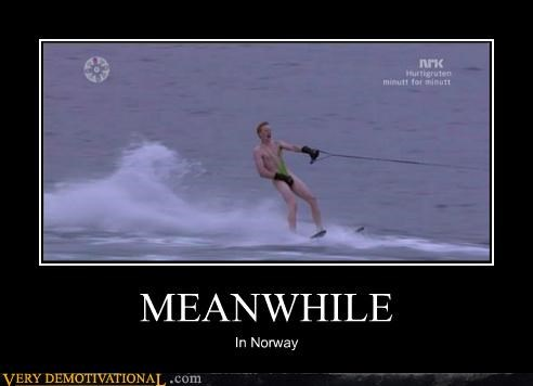 hilarious mankini Meanwhile Norway skiing wtf