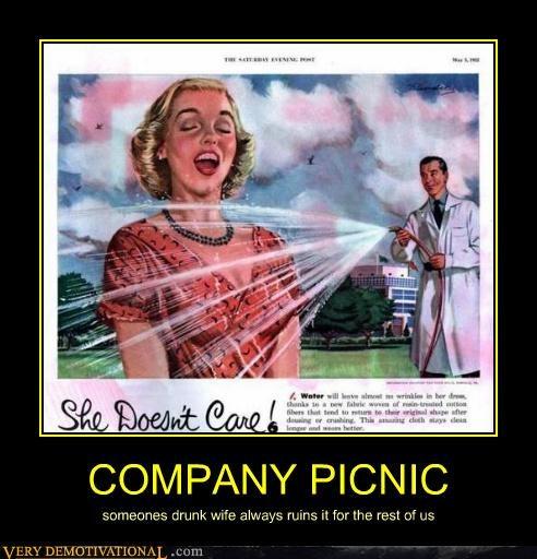 company,drunk,hilarious,picnic,wife
