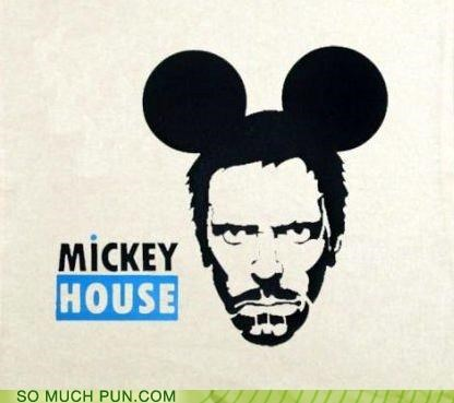 combination,house,juxtaposition,literalism,mickey mouse