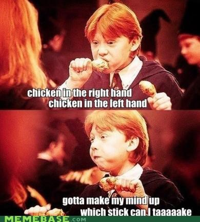 chicken drumstick FRIDAY Harry Potter Rebecca Black ron - 4889567744