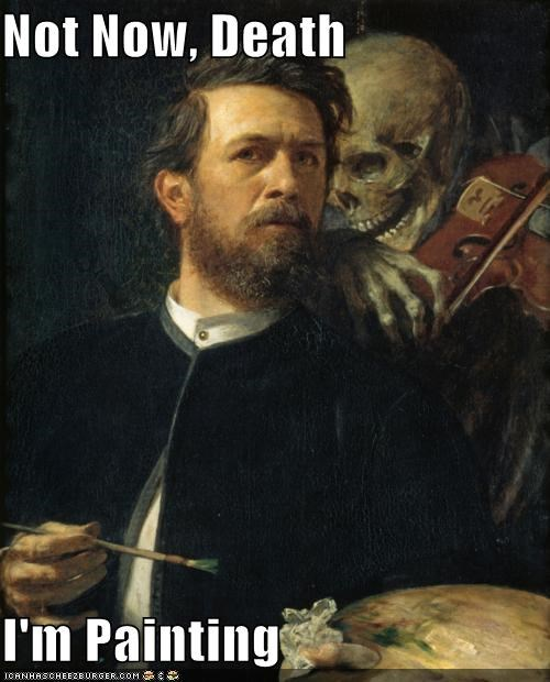 art color Death funny painting portrait