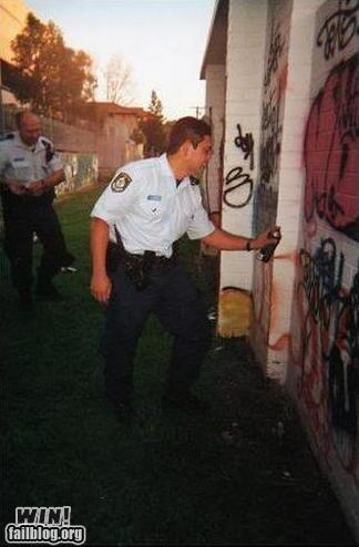 cops graffiti hacked irl irony police - 4889746944