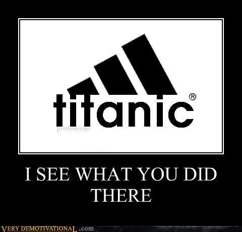 addidas hilarious sinking ship titanic logo - 4889886464