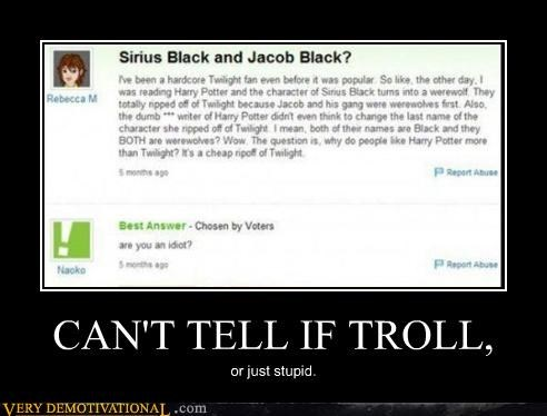 Hall of Fame Harry Potter idiots joking troll twilight