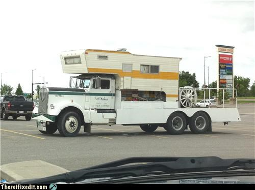 frankenstein,rv,time machine,truck,wtf