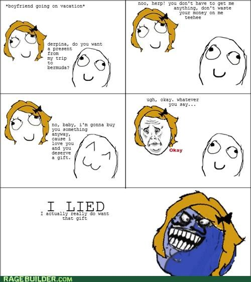 girlfriends,i lied,Rage Comics,vacation,women