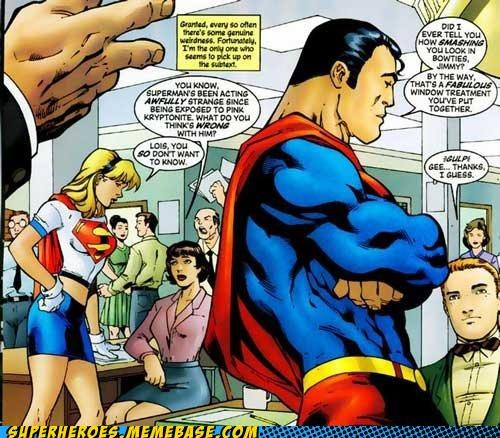 gay pink kryptonite Straight off the Page supergirl superman wtf - 4890535168