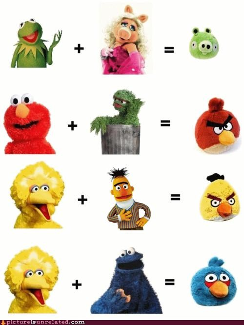 angry birds math muppet Plush wtf - 4890898688