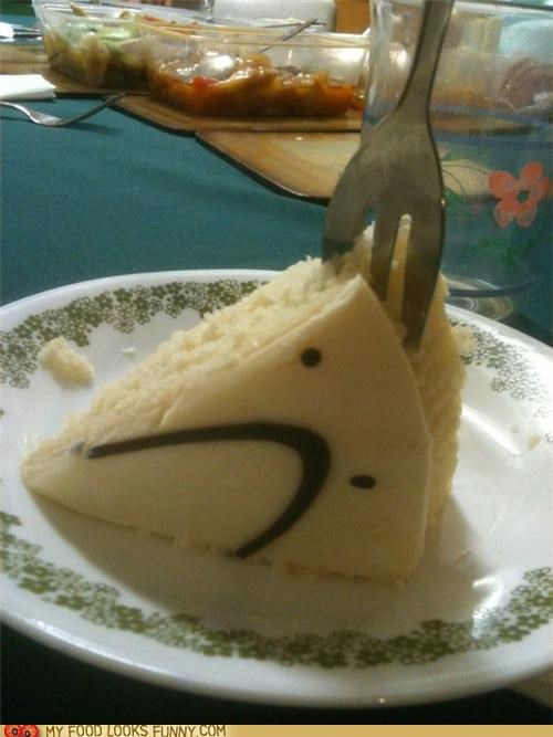 cake,face,fork,Sad,slice,stab