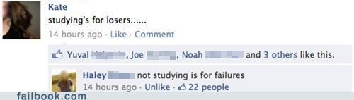 studying,witty reply