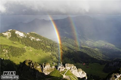 double rainbow,nature,rainbow