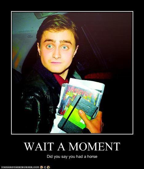 actor celeb Daniel Radcliffe demotivational funny - 4891746304