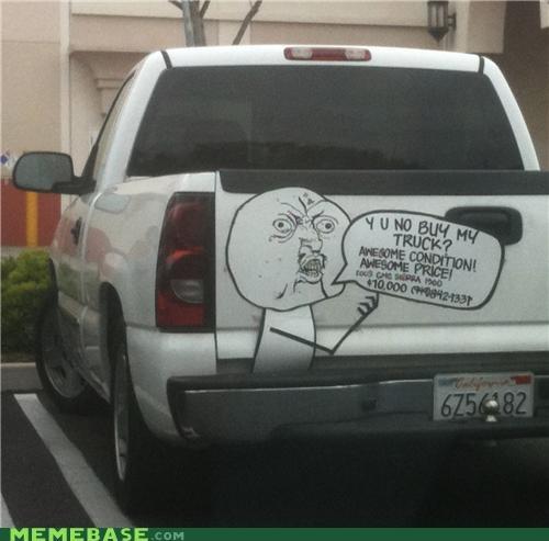 IRL sale truck Y U No Guy - 4891988480