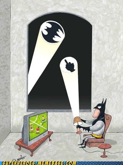 Awesome Art Bat signal batman soccer - 4892023296
