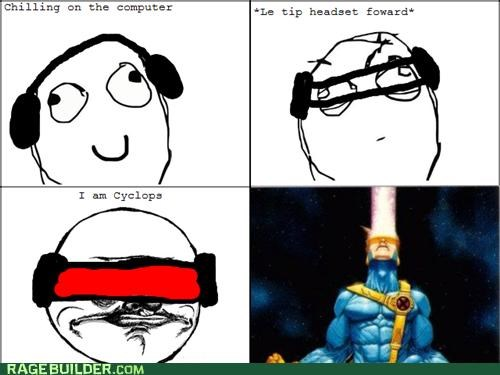 cyclops Rage Comics Star Trek xmen - 4892032768