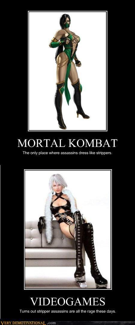 hilarious,Mortal Kombat,stripper assassins,video games