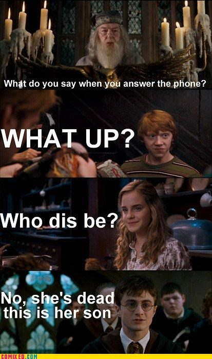 forever alone,greeting,Harry Potter,ring,telephone