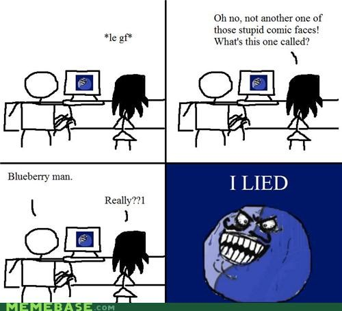 blueberry man,i lied,names,Rage Comics