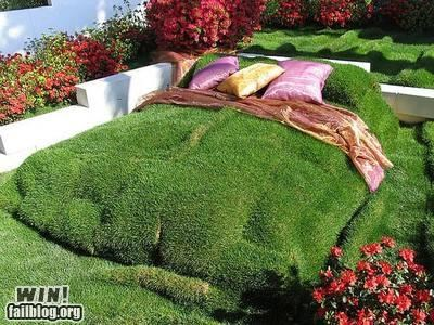 bedroom design grass outdoor
