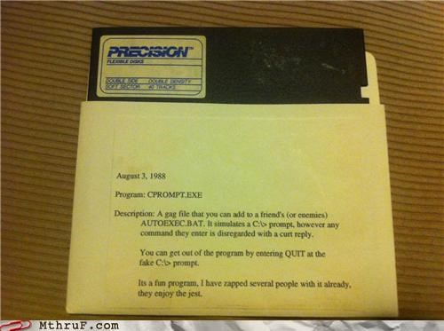 80s floppy disc gag file program reagan trollface - 4892330240
