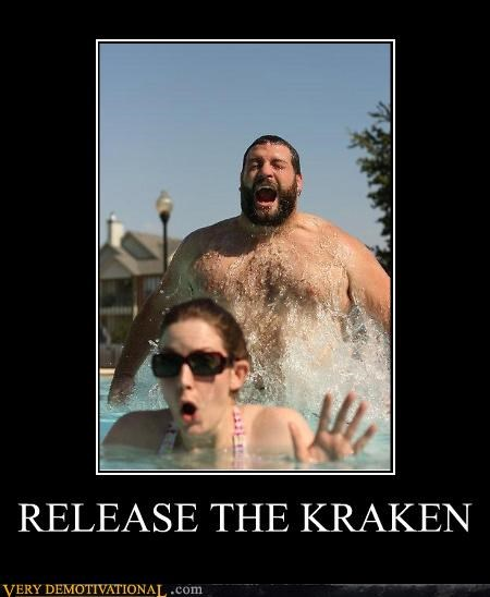 fat guy hilarious kraken pool wtf - 4892389888
