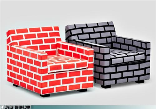 brick,chairs,print