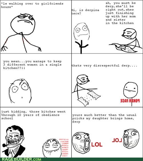 in laws kitchen Rage Comics troll dad women