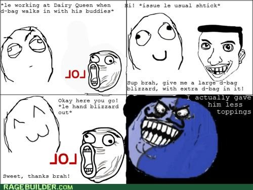 bro,dairy queen,i lied,jerk,Rage Comics
