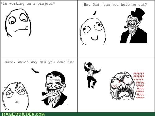 directions,help out,in,Rage Comics,troll dad