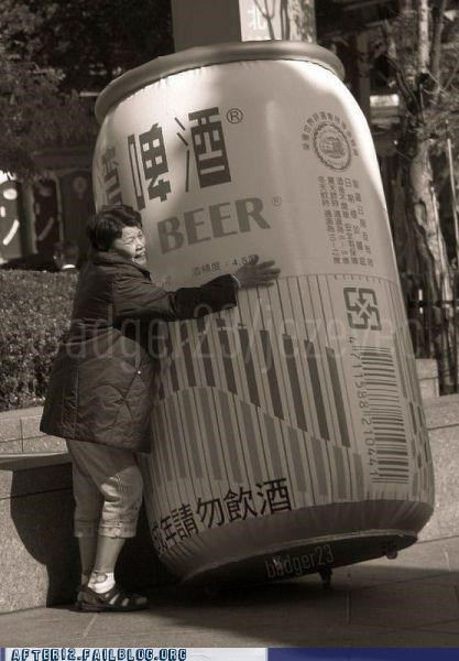 beer big can hug love
