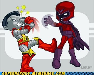 Awesome Art colossus hitting yourself Magneto - 4892872192