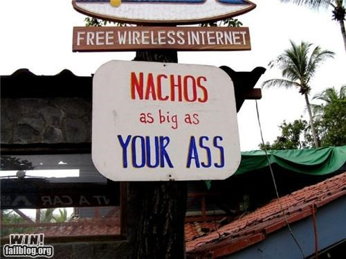 food nachos signs size - 4892902912