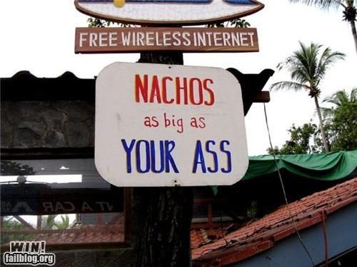 food nachos signs size - 4892902912