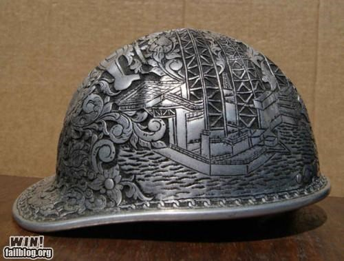 art construction engraved hard hat helmt - 4892932608