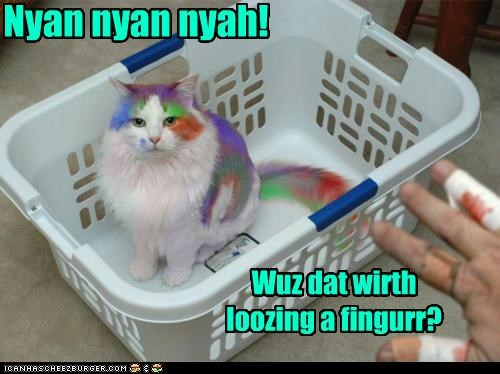 caption,captioned,cat,coloring,do not want,dye,injury,meme,nyan,Nyan Cat,payback,question,revenge,worth it