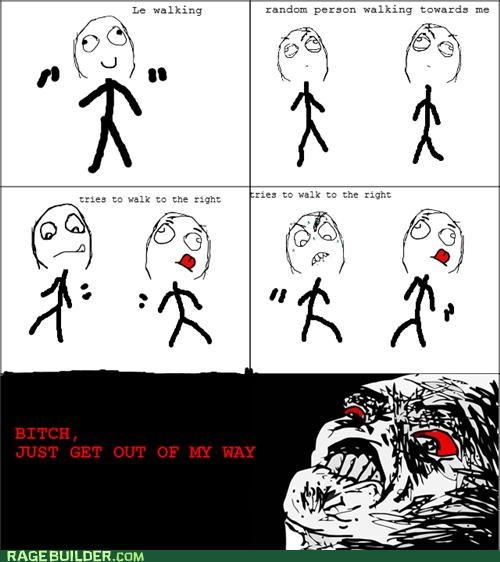 Awkward in my way Rage Comics walking - 4894081024