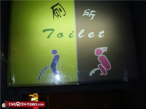 bathroom peeing pictogram toilet - 4894295552