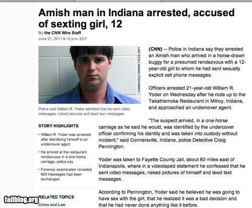 amish creepy failboat innuendo Probably bad News sexting - 4894446336