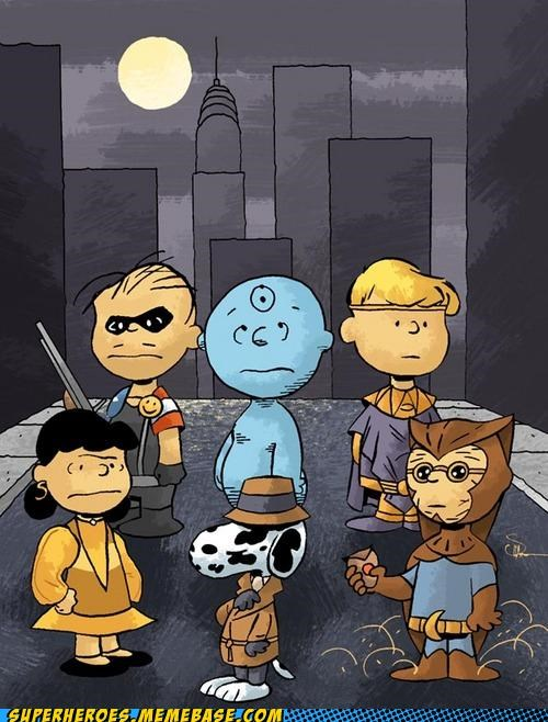 Awesome Art mashup peanuts watchmen - 4894661632